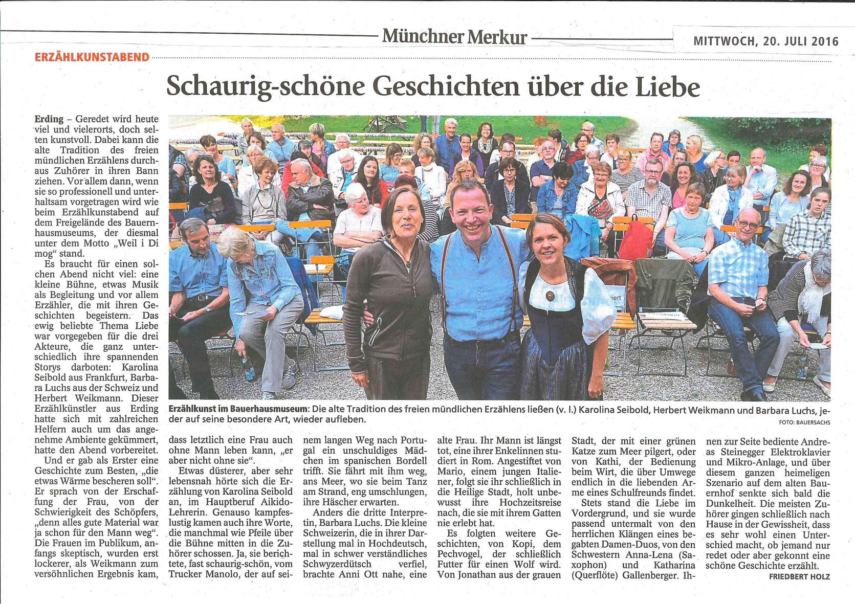 Münchner Merkur - 20. Juli 2016