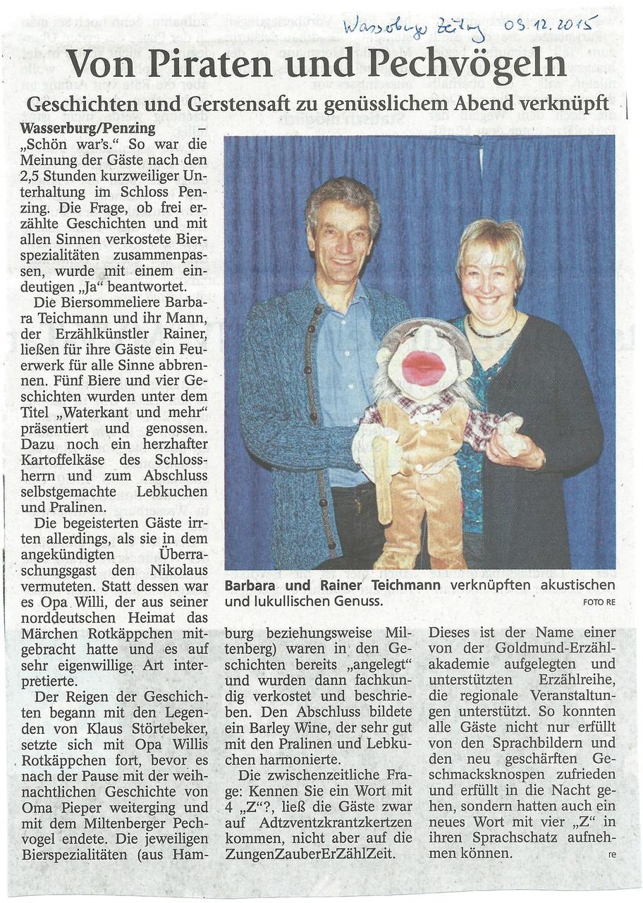 Wasserburger Zeitung - 9. Dezember 2015