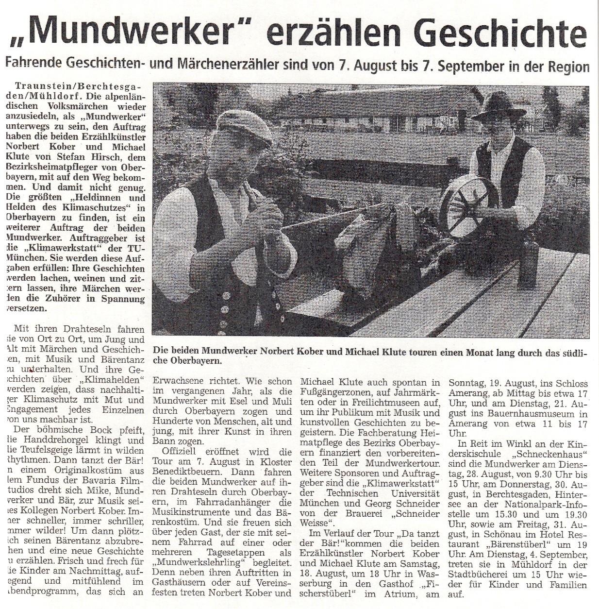 Trostberger Tagblatt - 26.07.2007