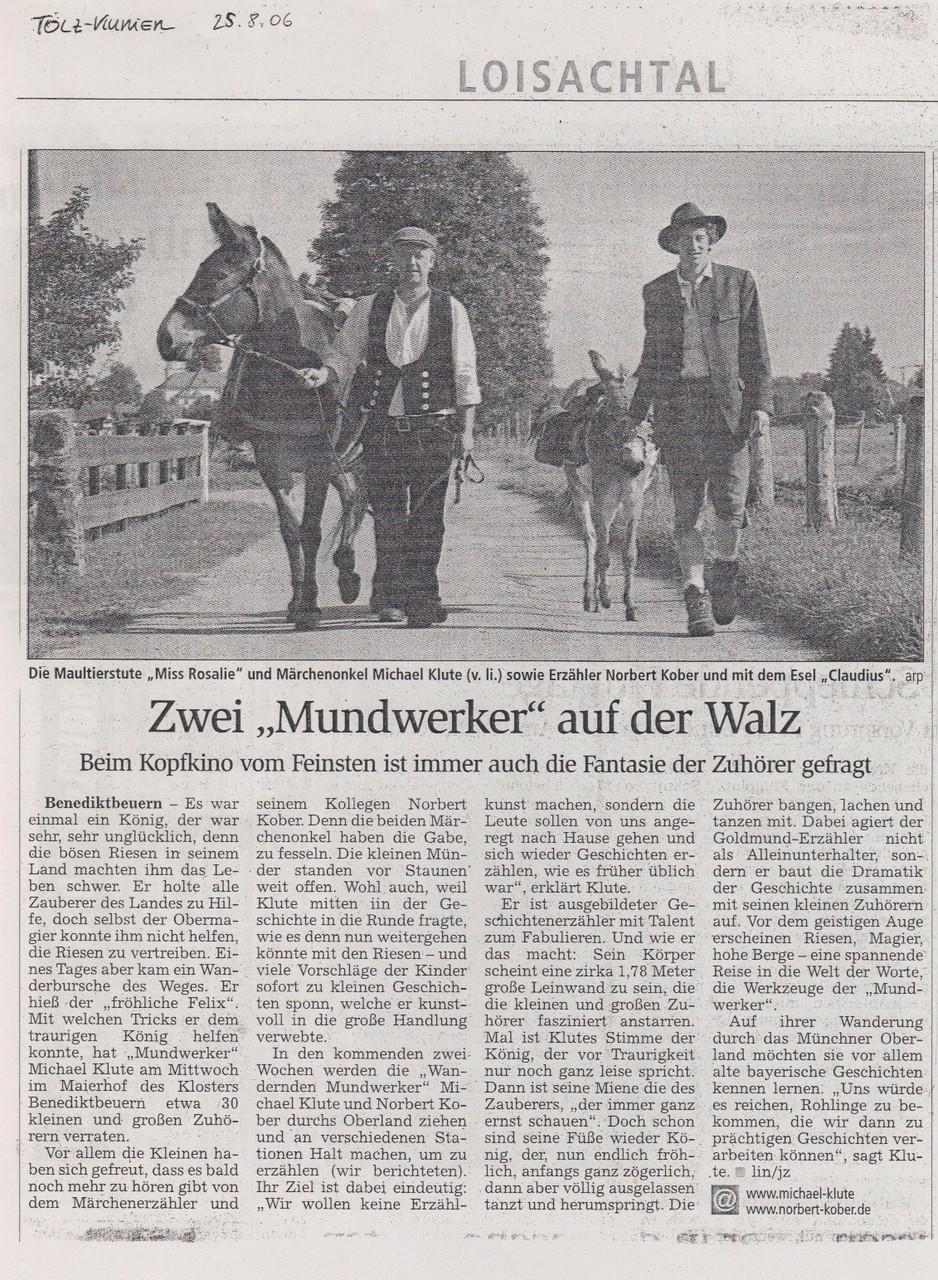 Tölzer Kurier - 25.08.2006