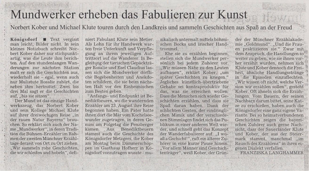 Süddeutsche Zeitung - 31.08.2006