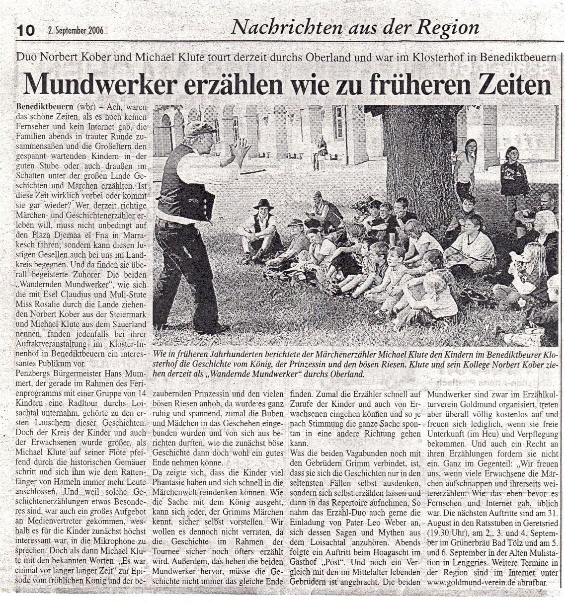Münchener Merkur - 02.09.2006
