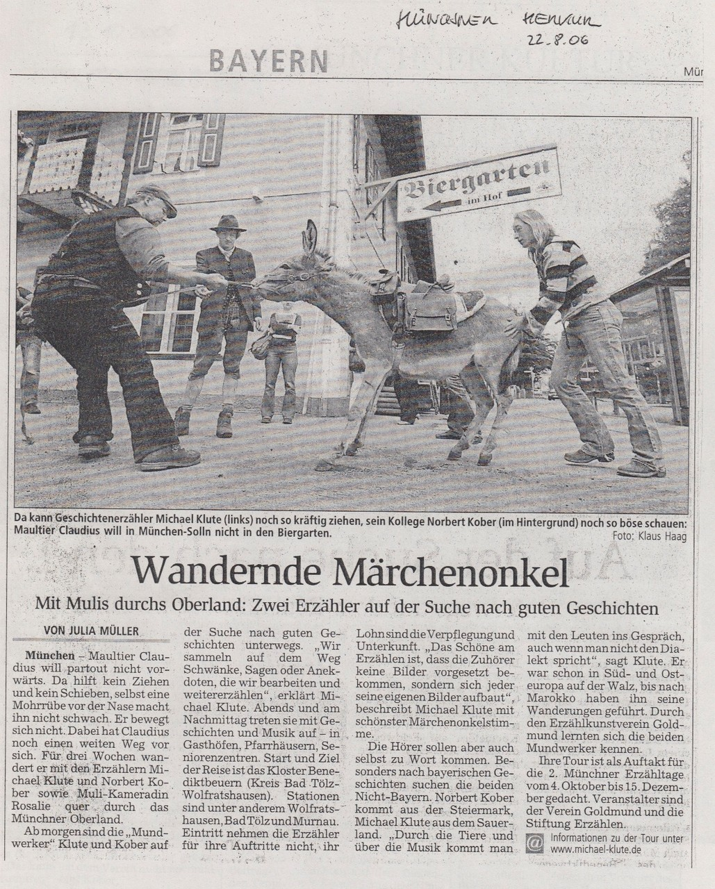 Münchener Merkur - 22.08.2006