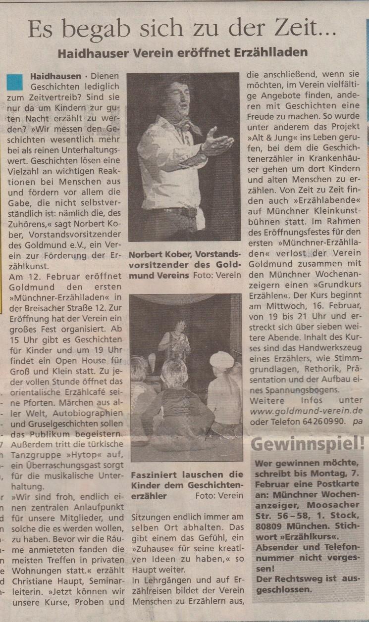 Münchener Wochenanzeiger - 02.02.2005