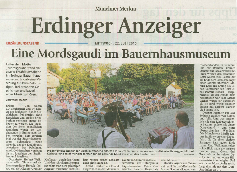 22.07.2015 Münchner Merkur MORDsgaudi