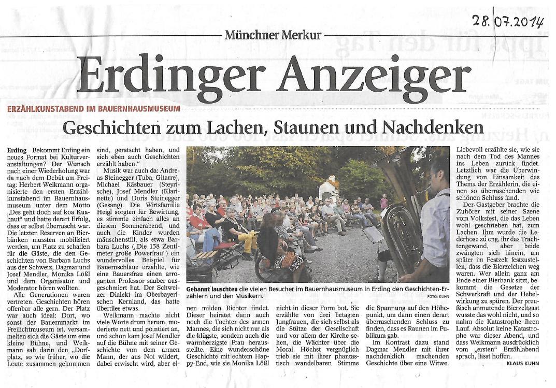 Münchner Merkur (Erdinger Anzeiger) - 28. Juli 2014