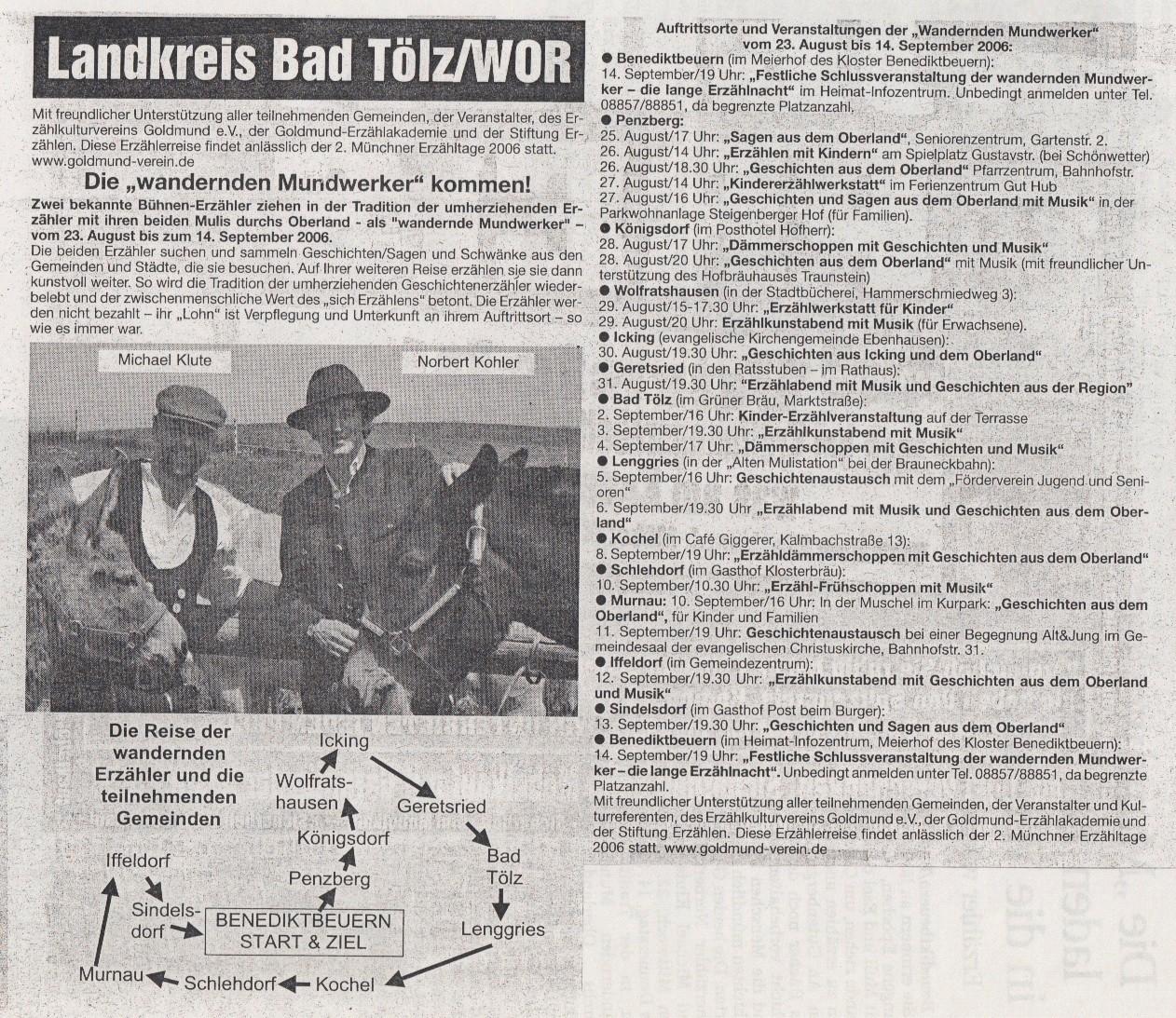Gelbes Blatt Oberland - 16.08.2006