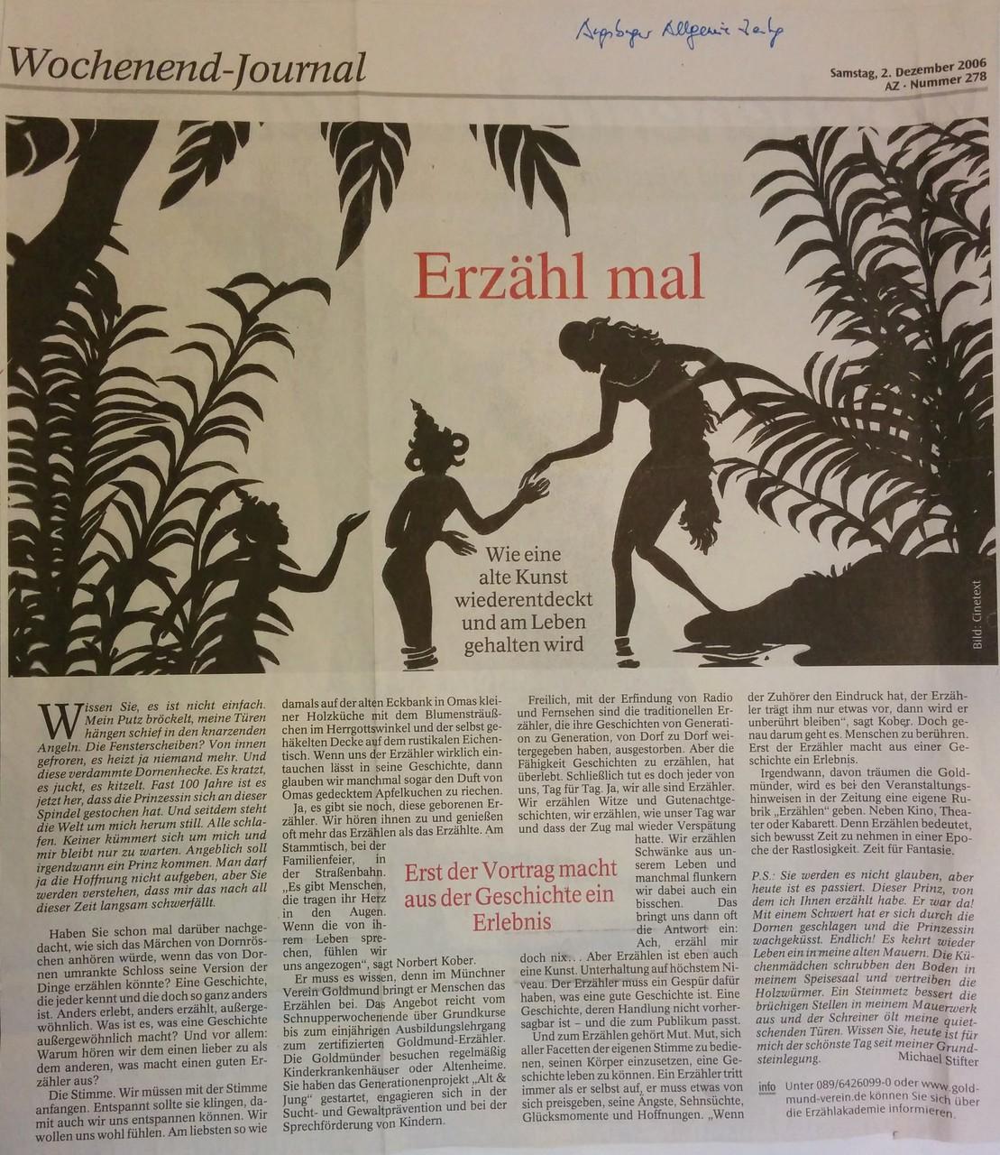 Augsburger Allgemeine Zeitung - 02.12.2006