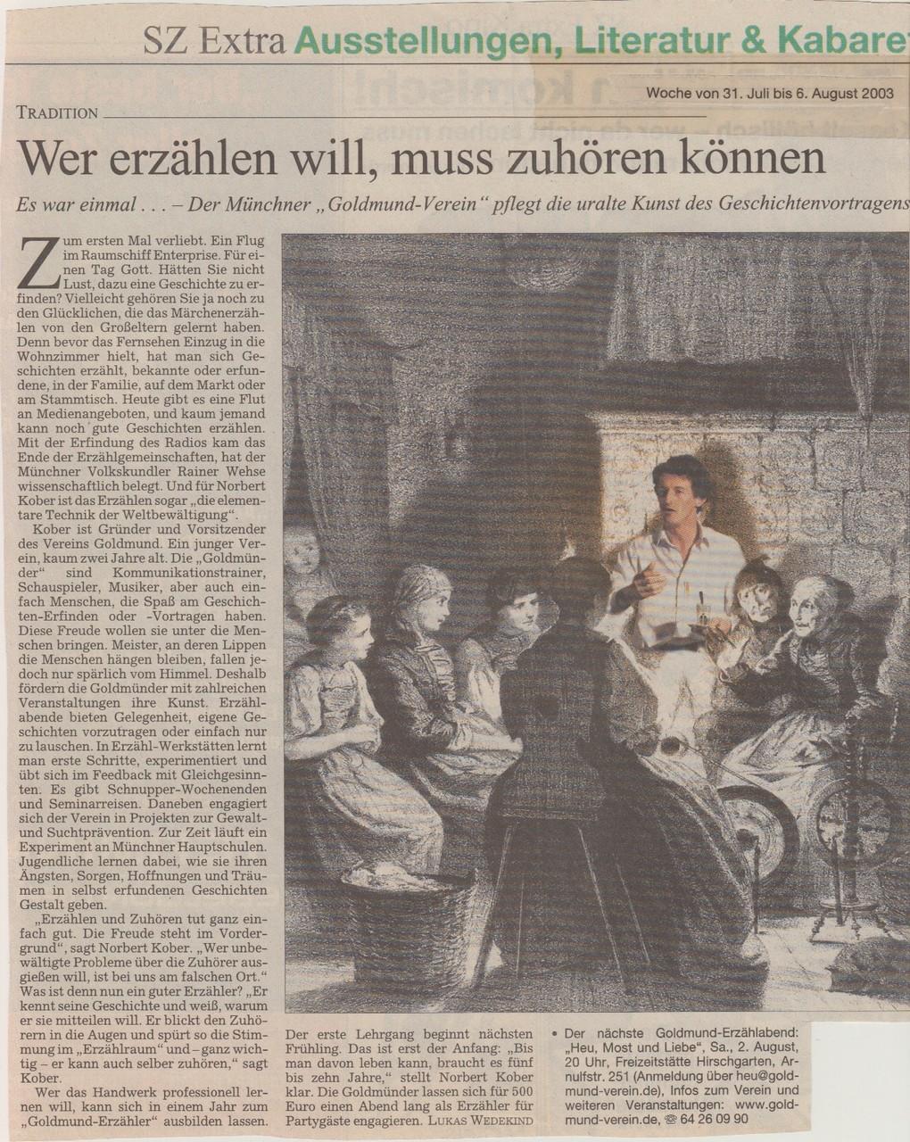 Süddeutsche Zeitung - 05.08.2003