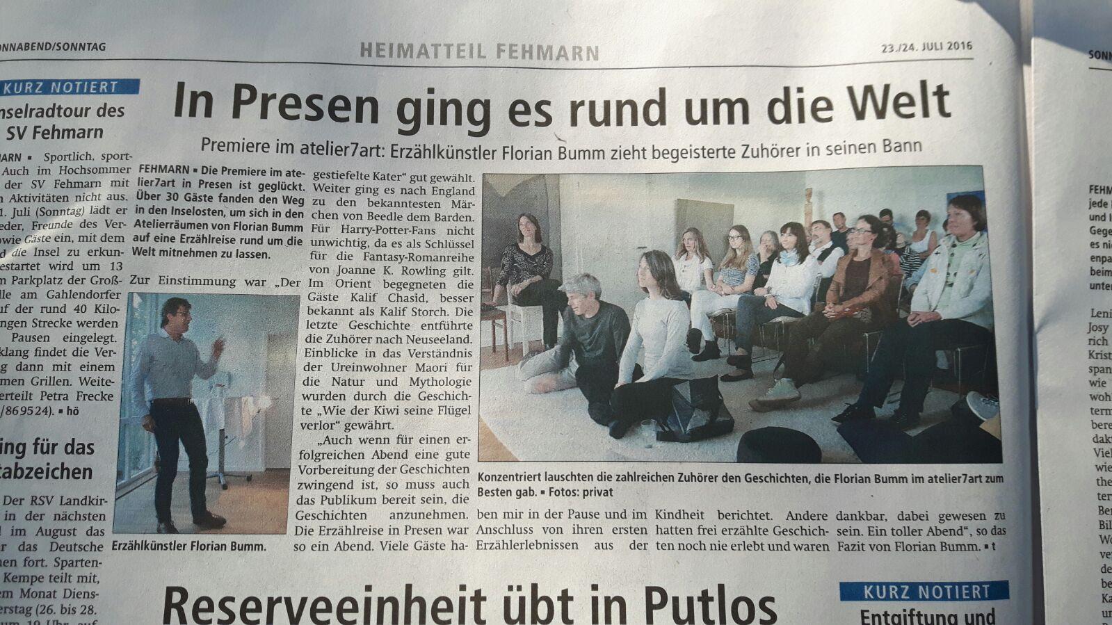 Fehmarnsches Tageblatt - 23. Juli 2016