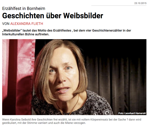 Frankfurter Neue Presse (Online) - 23. Oktober 2015
