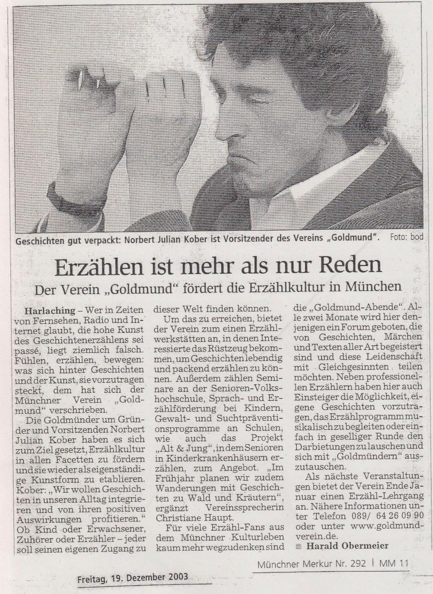 Münchener Merkur - 13.12.2003