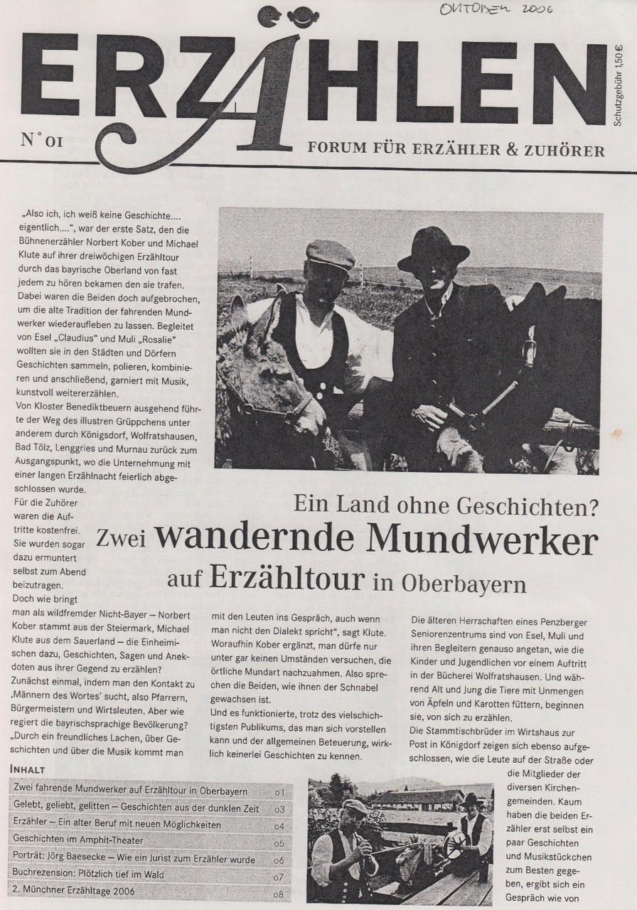 Zeitschrift Erzählen - Oktober 2006