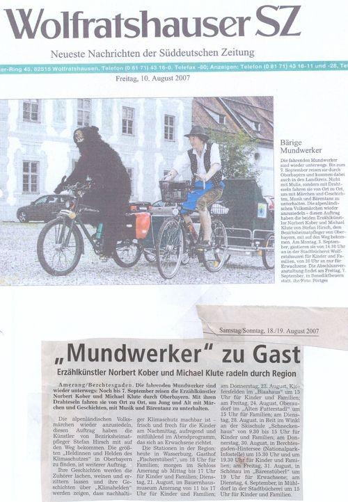 Süddeutsche Zeitung - 10.08.2007