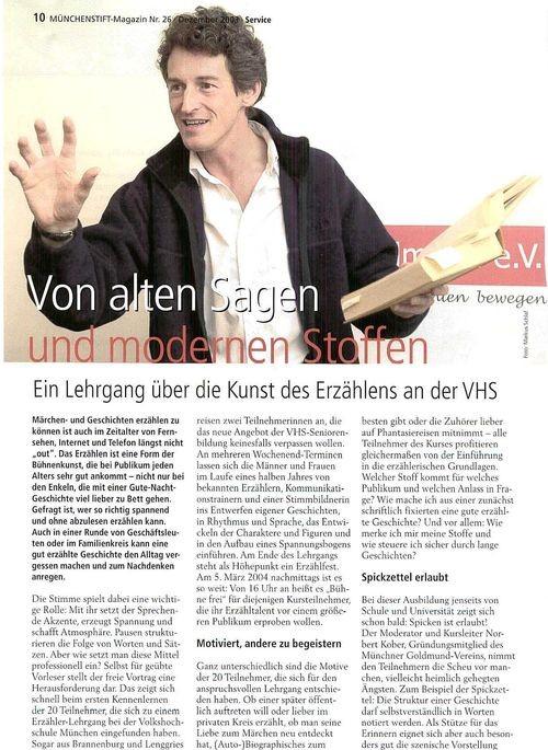 Münchenstift Magazin - Dezember 2009