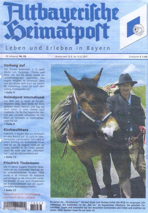 Altbayrische Heimatpost - 18.08.2007