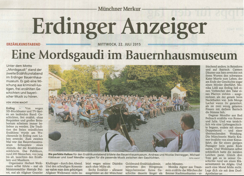 Münchner Merkur (Erdinger Anzeiger) - 22. Juli 2015