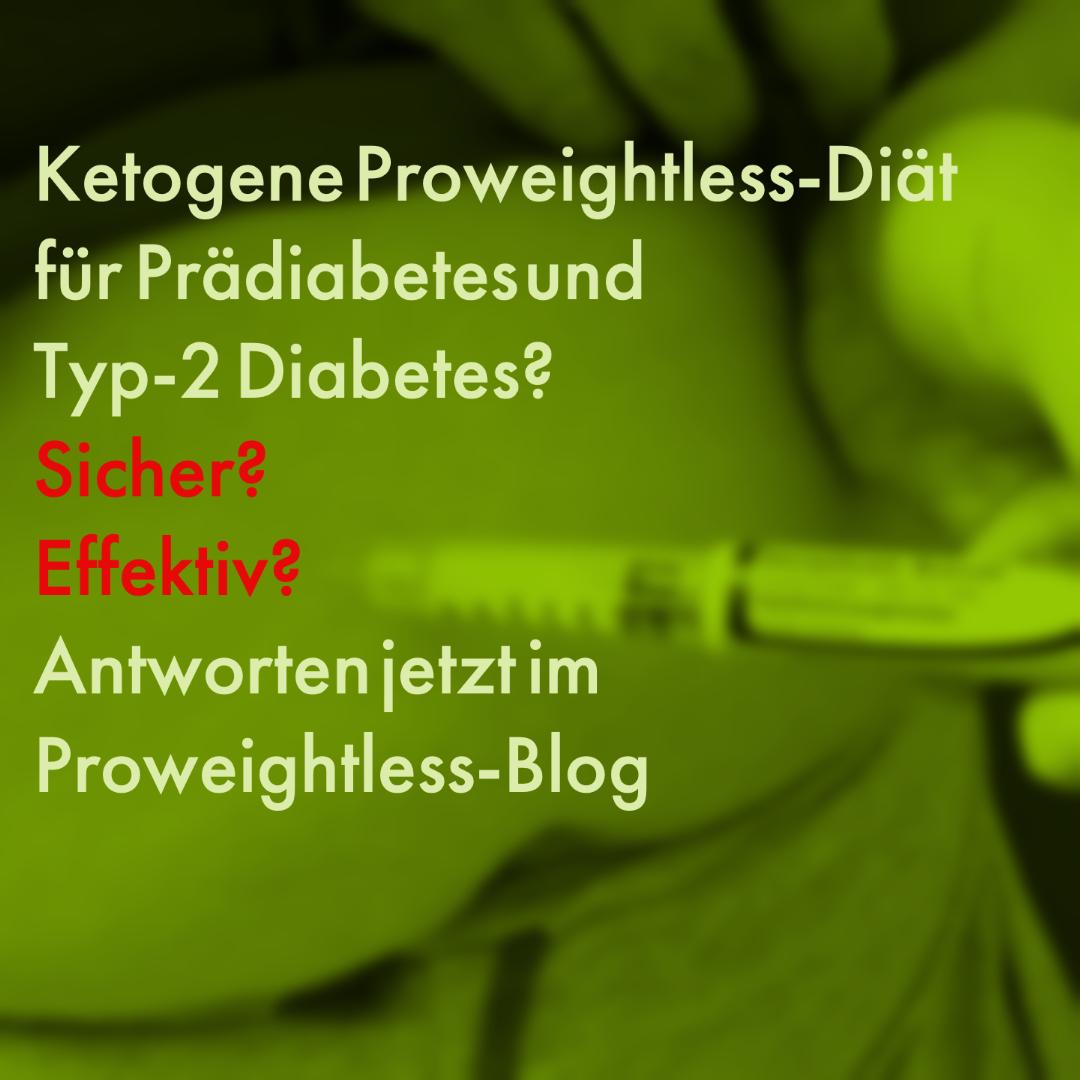 Keto-Diät als kurzzeitige Diät-Intervention für Diabetes Typ 2?