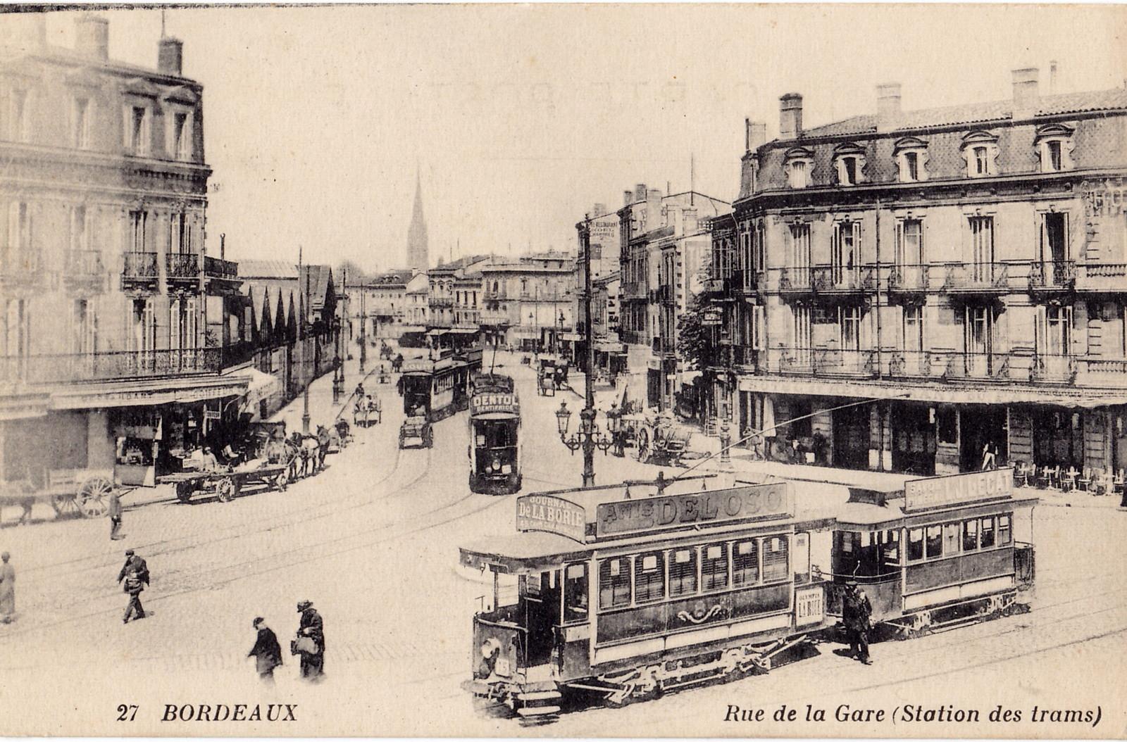 Tramway électrique, 1900