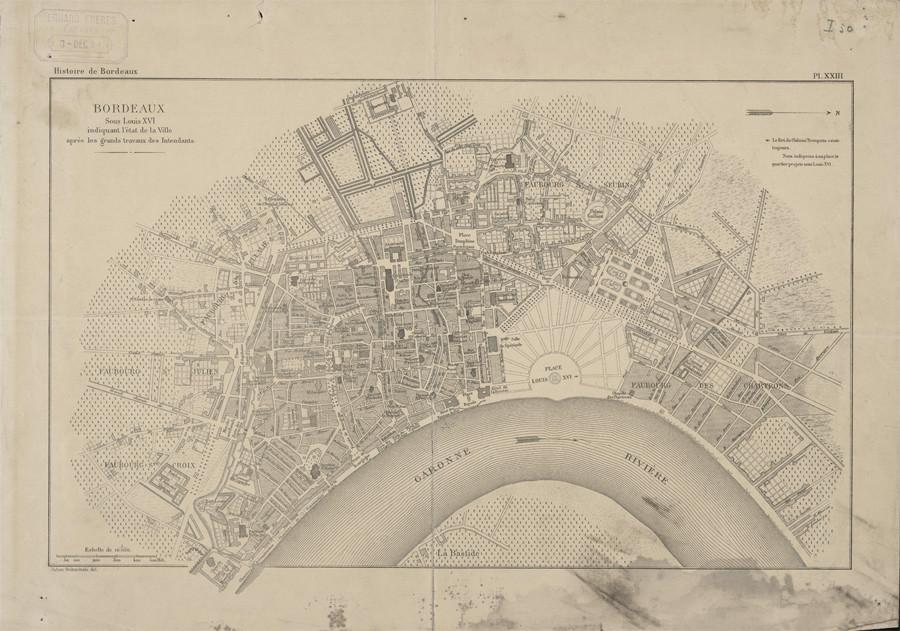 Бордо, 18 век, 110 тыс жителей. Король Луи 16.