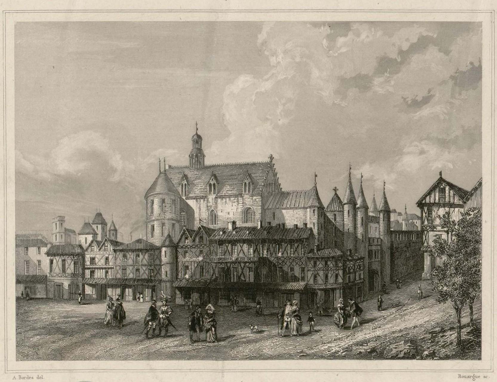 Bordeaux, quartier Saint-Pierre, palais de l'Ombrière