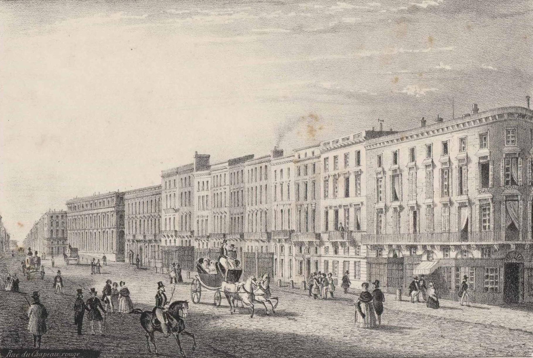 Бордо, 19 век, улица Chapeau Rouge