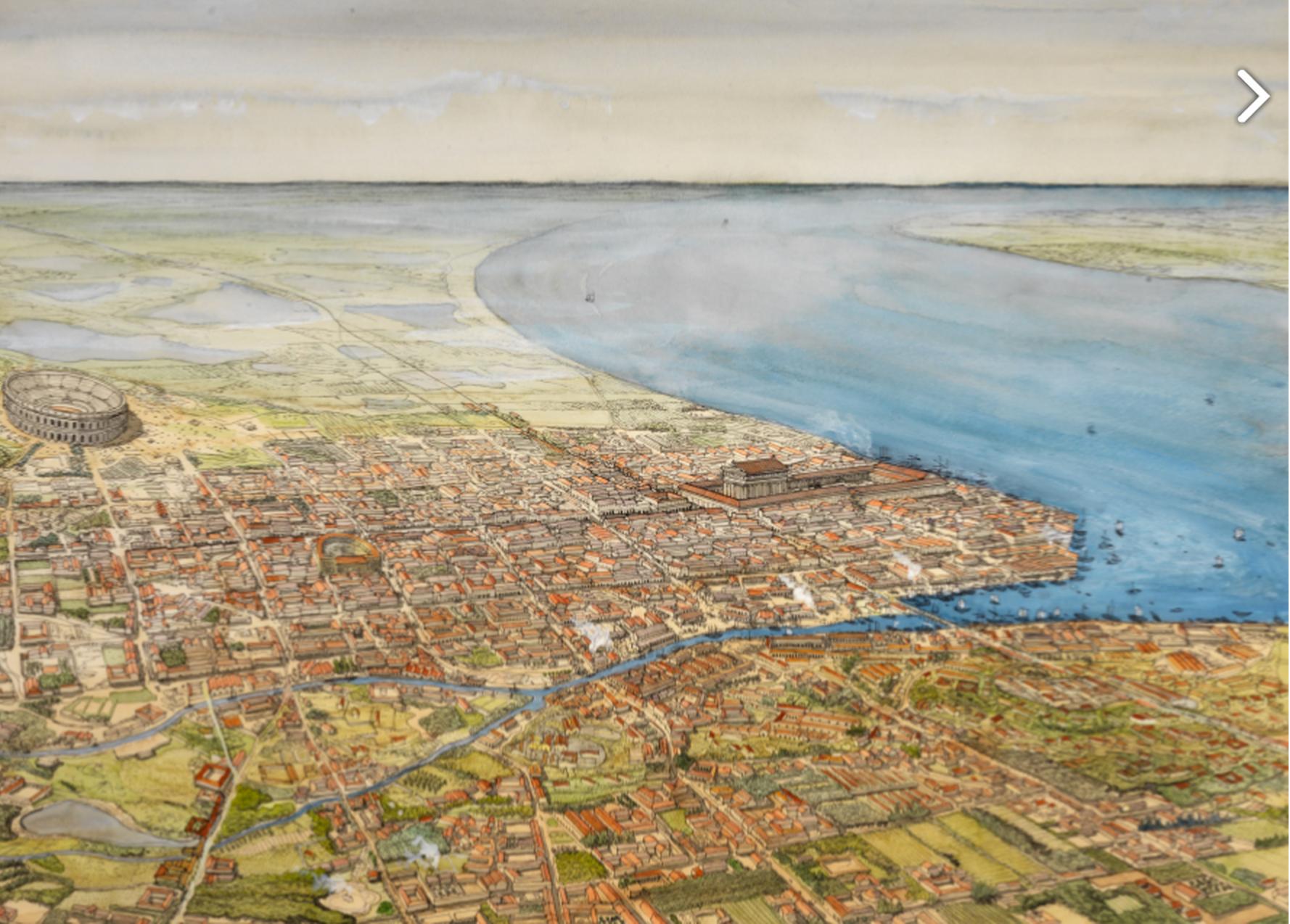 Бурдигала, большой, красивый и открытый, древне-римский город в 3 веке
