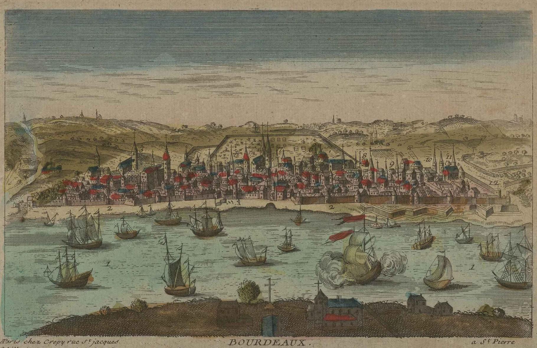 Бордо в 17 веке, 35 тыс жителей