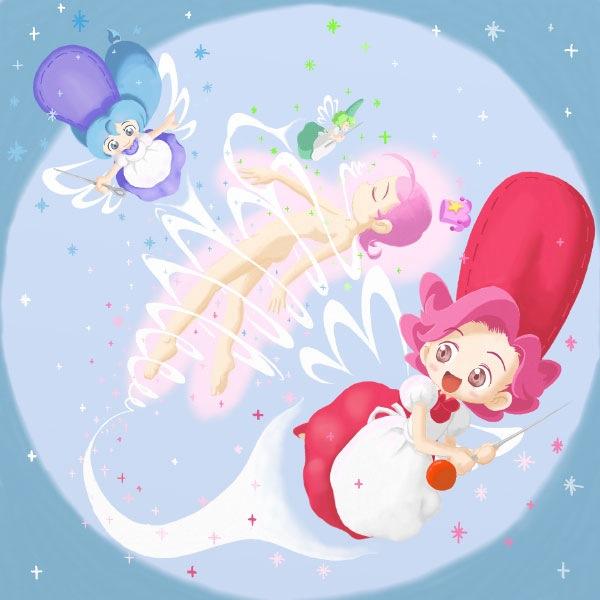 【ぬいぬいしちゃいますの~!】「コメット☆さん」より、どんな服でも作っちゃうホシビト(星の妖精)のヌイビト。 まるで似てません。 こんなシーンもありません(汗)。