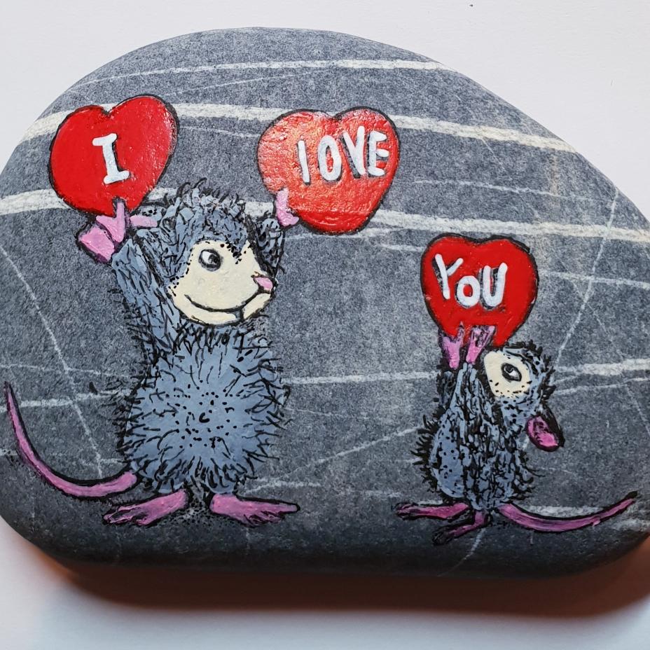 Und noch ein Stein für Verliebte.