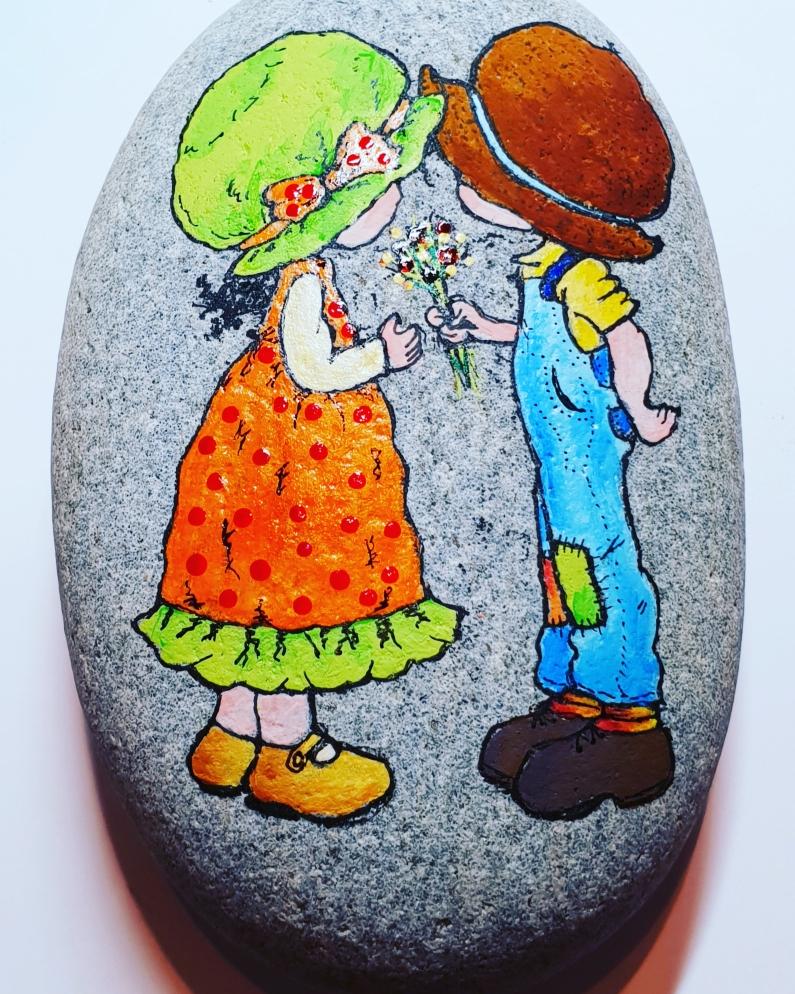 """Ein :"""" Ich hab dich lieb!"""" Stein"""