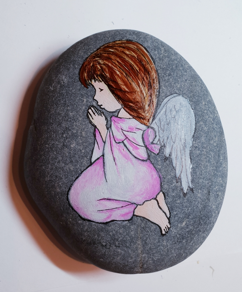 Kleiner rosa Engel.