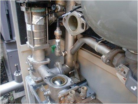 増圧給水ポンプ撤去