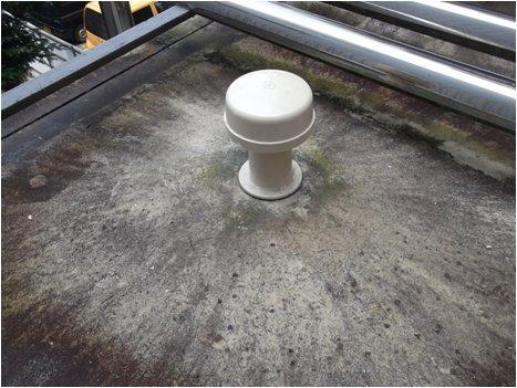 貯水槽通気管点検状況