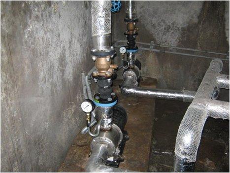 揚水ポンプ点検 高置水槽の場合