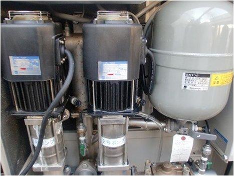 増圧給水ポンプ交換後