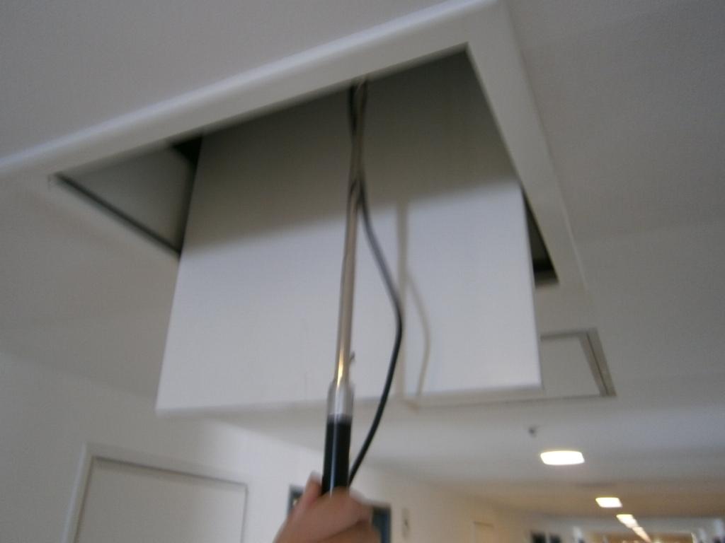 建築設備定期検査機械排煙風量測定