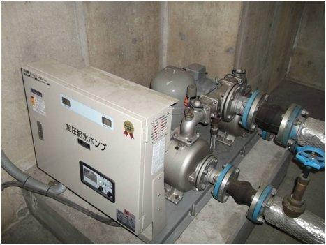 加圧給水ポンプ点検状況