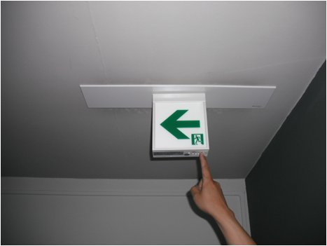 誘導灯点検状況