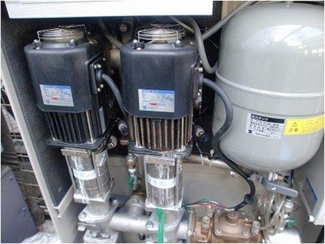 増圧給水ポンプ交換前