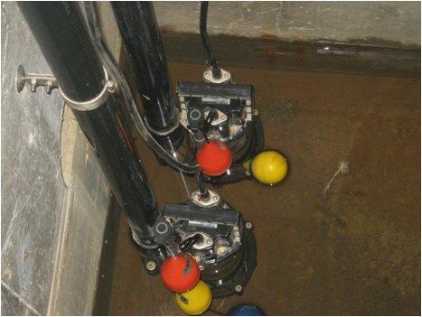 排水ポンプ点検状況