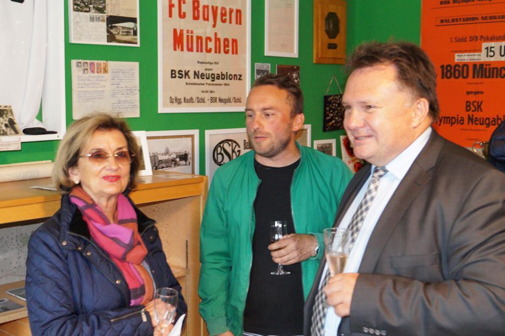 Lockerer Austausch mit Oberbürgermeister Stefan Bosse