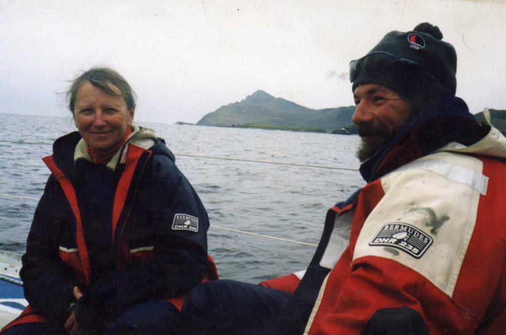 Nicole van de Kerchove et laurent au Cap Horn