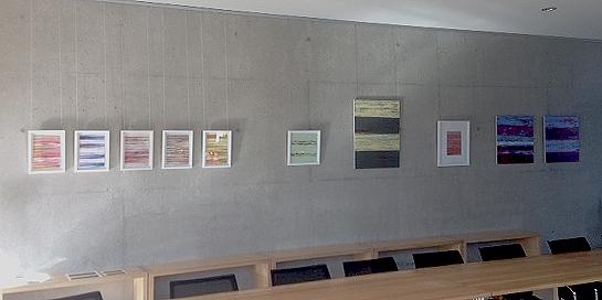 Bilderwand von Katharina Ulke im Rathaus Herrsching, Gemeindesaal