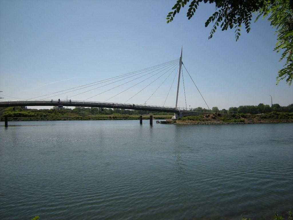 Brücke über den alten Bismarcker Hafen