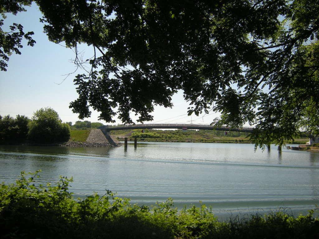 Blick auf Bismarcker Brücke