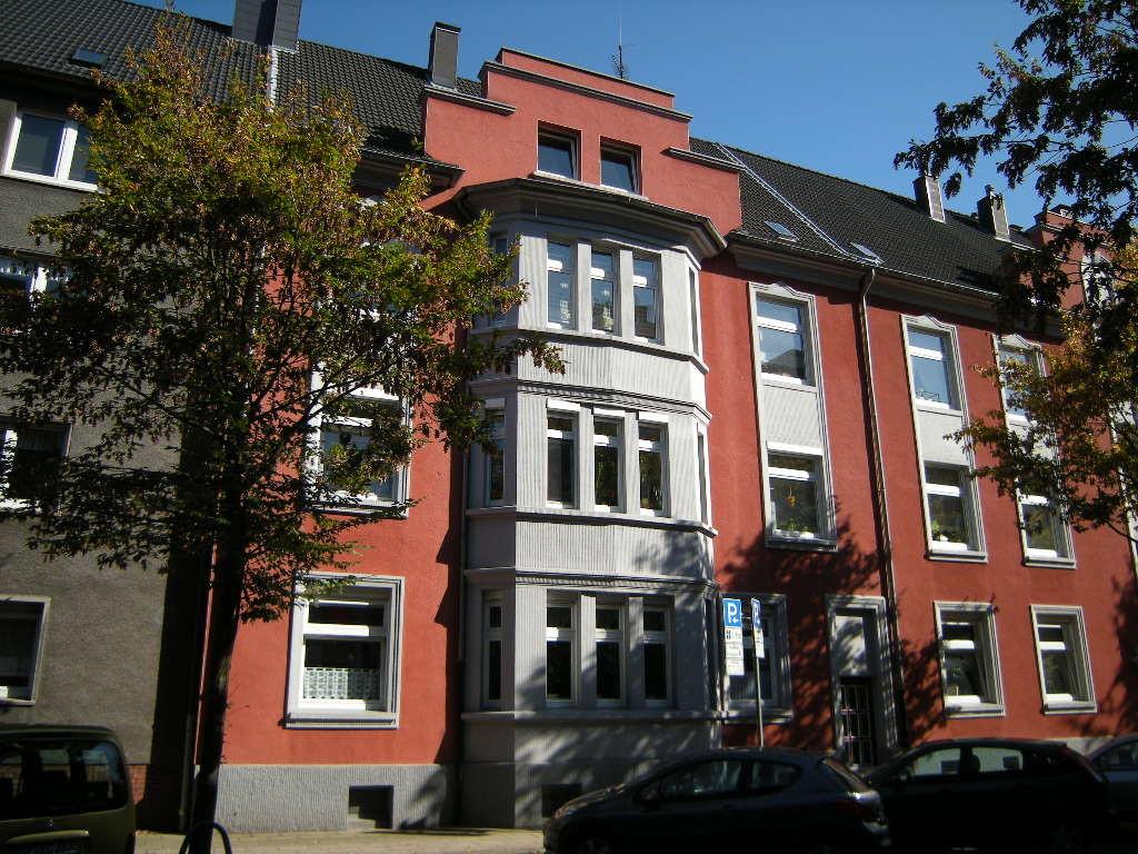 Restaurierte Häuserfronten