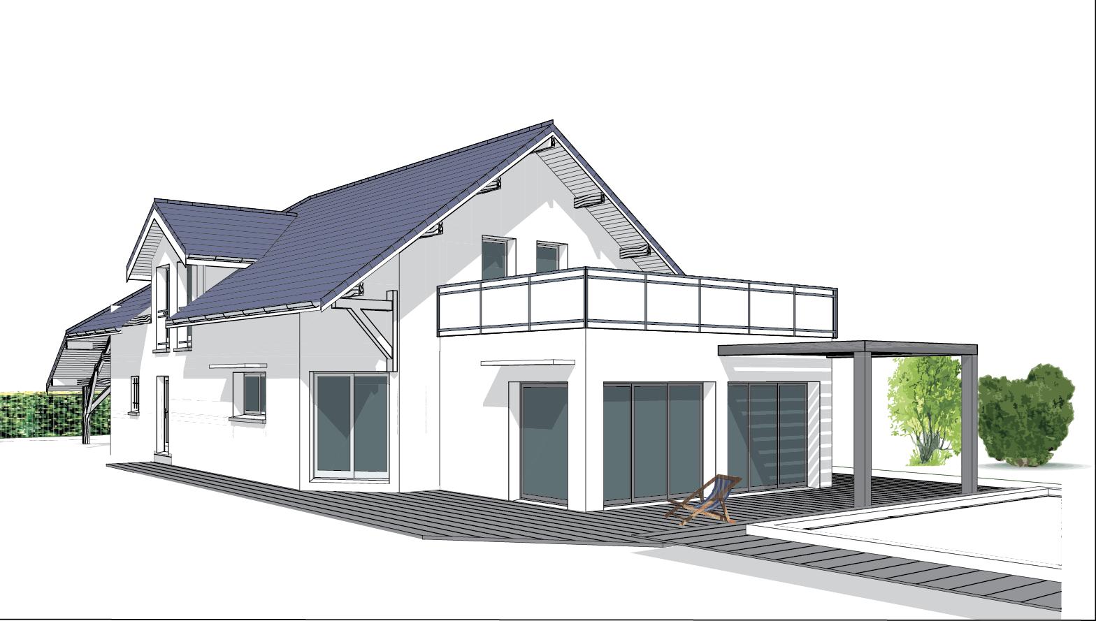 Extension de Maison - Toit Terrasse