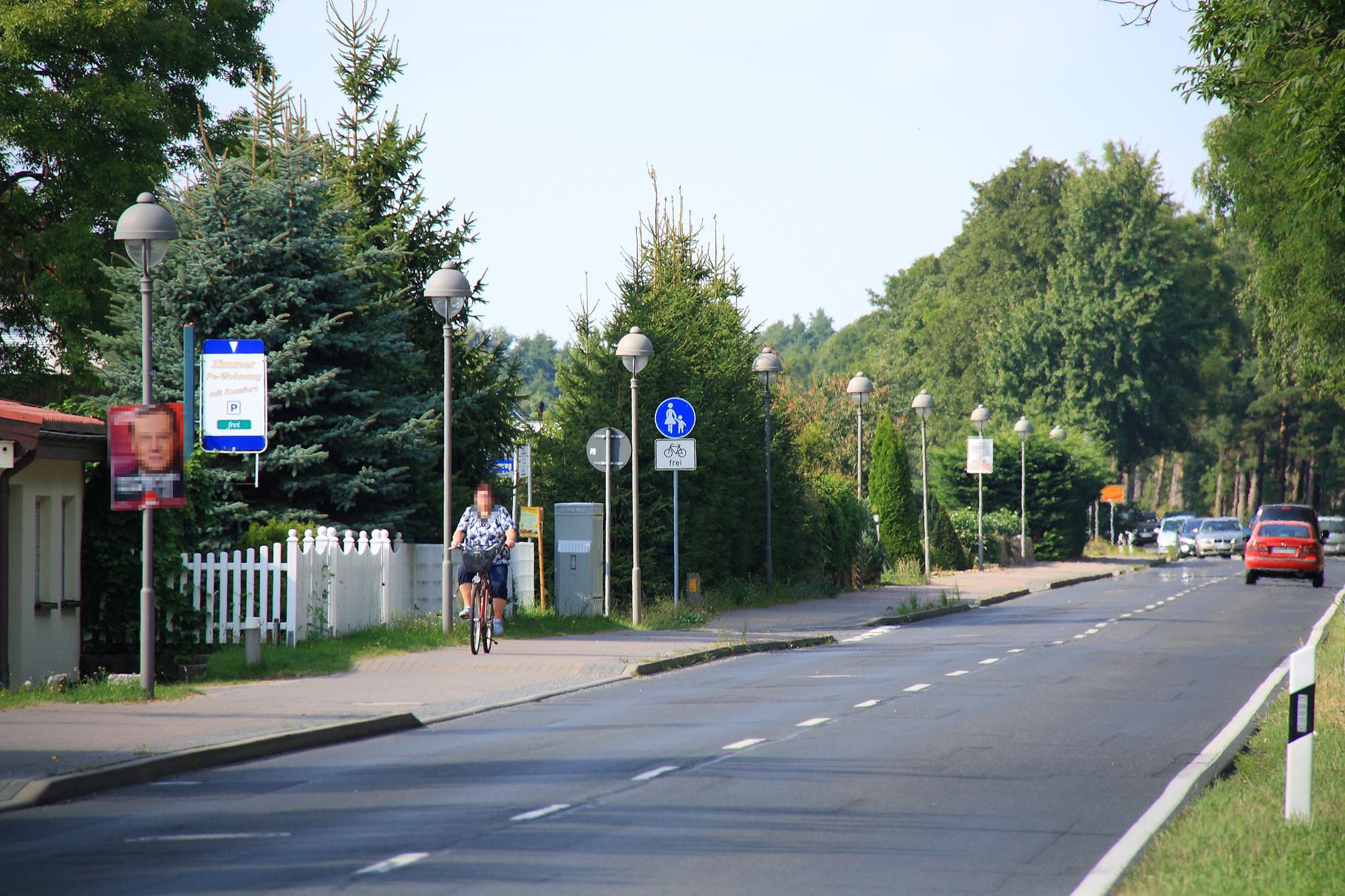 Ostseebad Trassenheide, Straßenbeleuchtung Bahnhofstraße