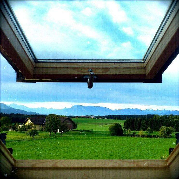Blick aus dem Dachfenster aller Räume